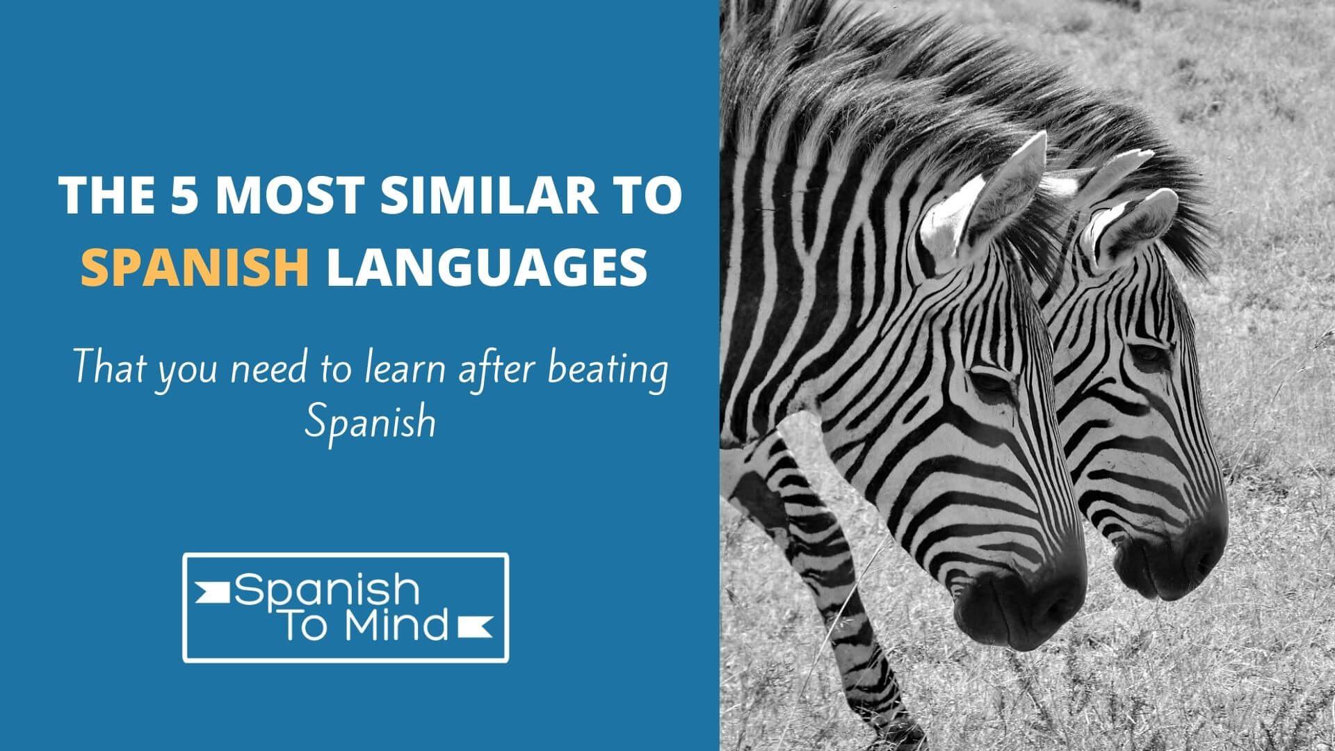 5 similar to spanish languages
